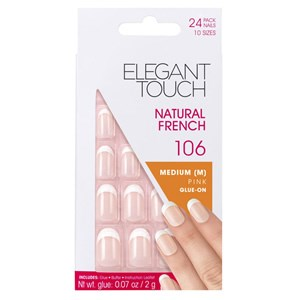 Elegant Touch Natural French 106 - Medium Oval Pink
