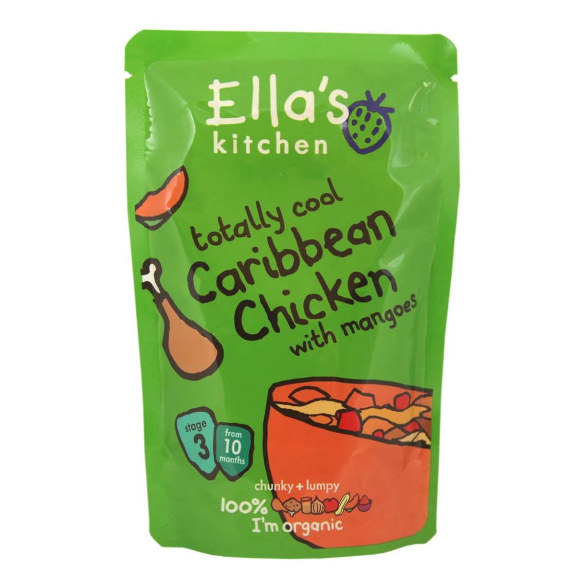 Ella's Kitchen Totally Cool Caribbean Chicken with Mangoes - Stage3