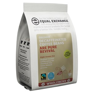 Equal Exchange Organic Fairtrade Decaffeinated Coffee Beans - Swiss Water