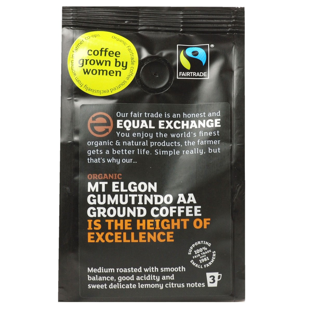 Equal Exchange Organic Fairtrade MT Elgon Gumutindo Ground Coffee