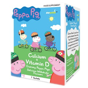 FitVits Peppa Pig Calcium and Vitamin D Gummy Pigs