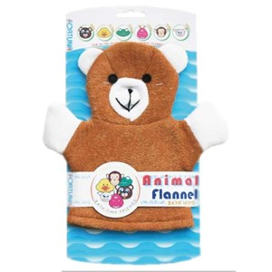 Fortuna Animal Flannel Bath Mitt