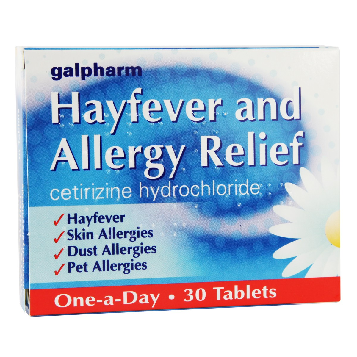 Galpharm Cetirizine 10mg Allergy Relief Tablets