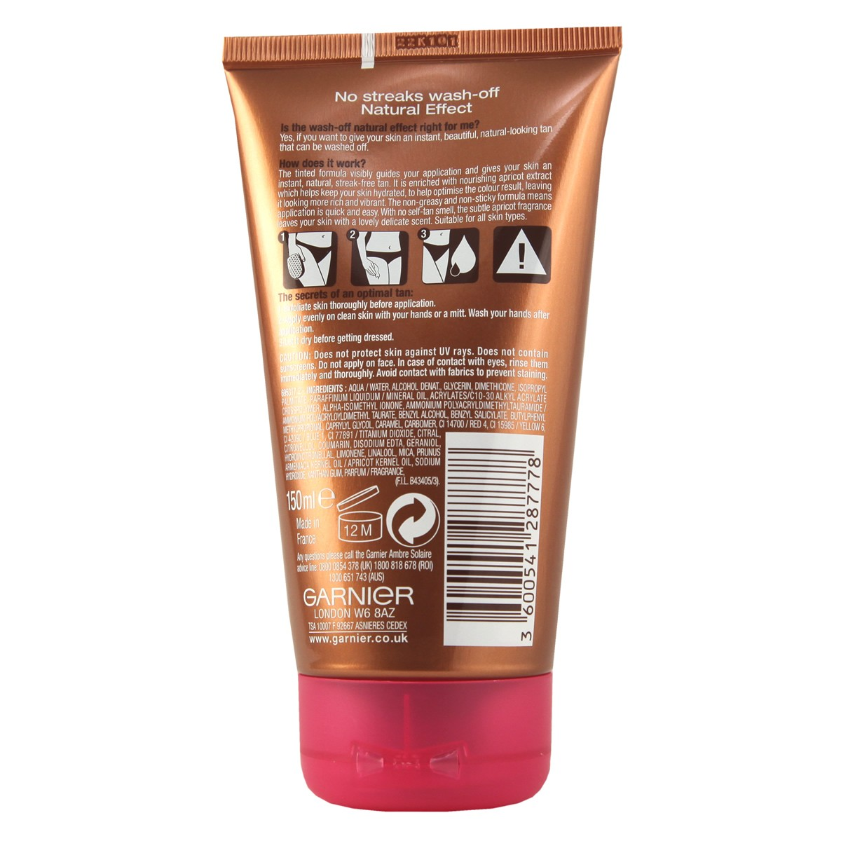 Garnier Ambre Solaire No Streaks Wash Off Natural
