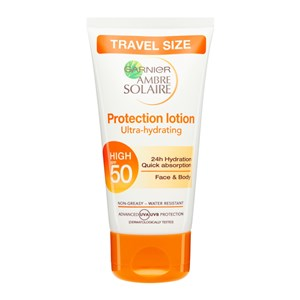 Garnier Ambre Solaire Ultra-Hydrating Protection Lotion SPF50 - Travel Size