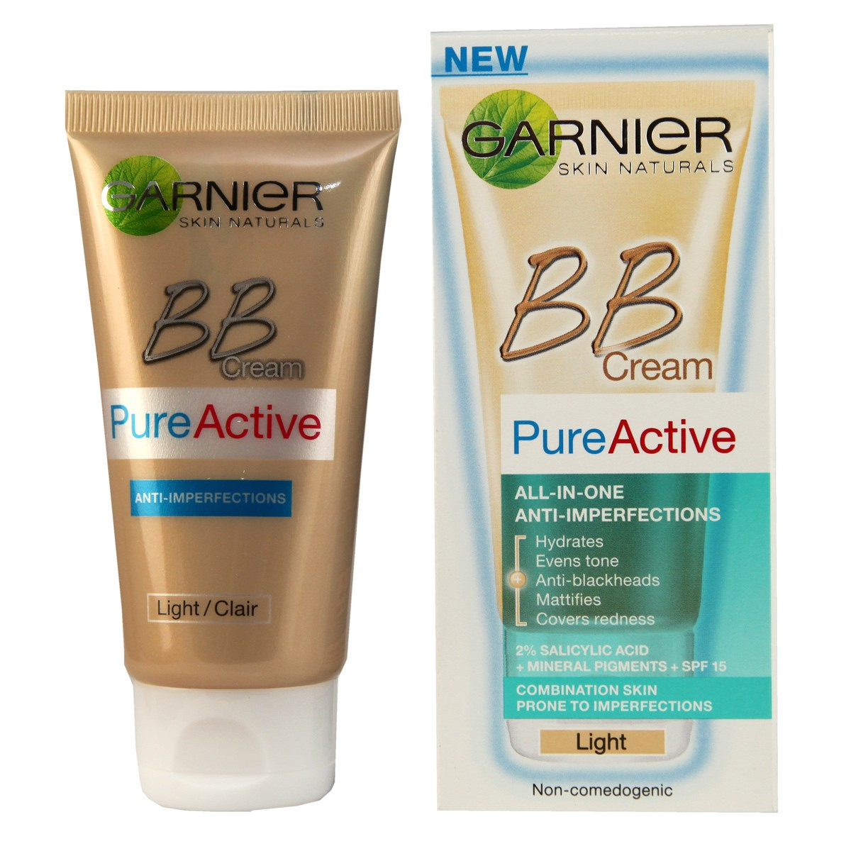 Garnier Pure Active BB Cream All-In-One Anti-imperfections Light
