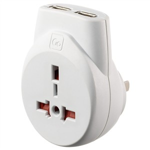 Go Travel Transworld USB Adaptor (Visitor - Americas)