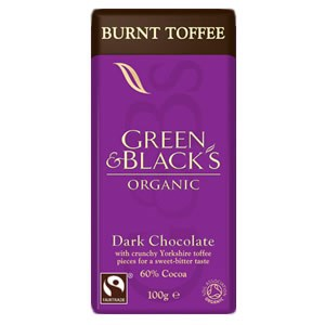 Green & Black's Organic Burnt Toffee Dark Chocolate