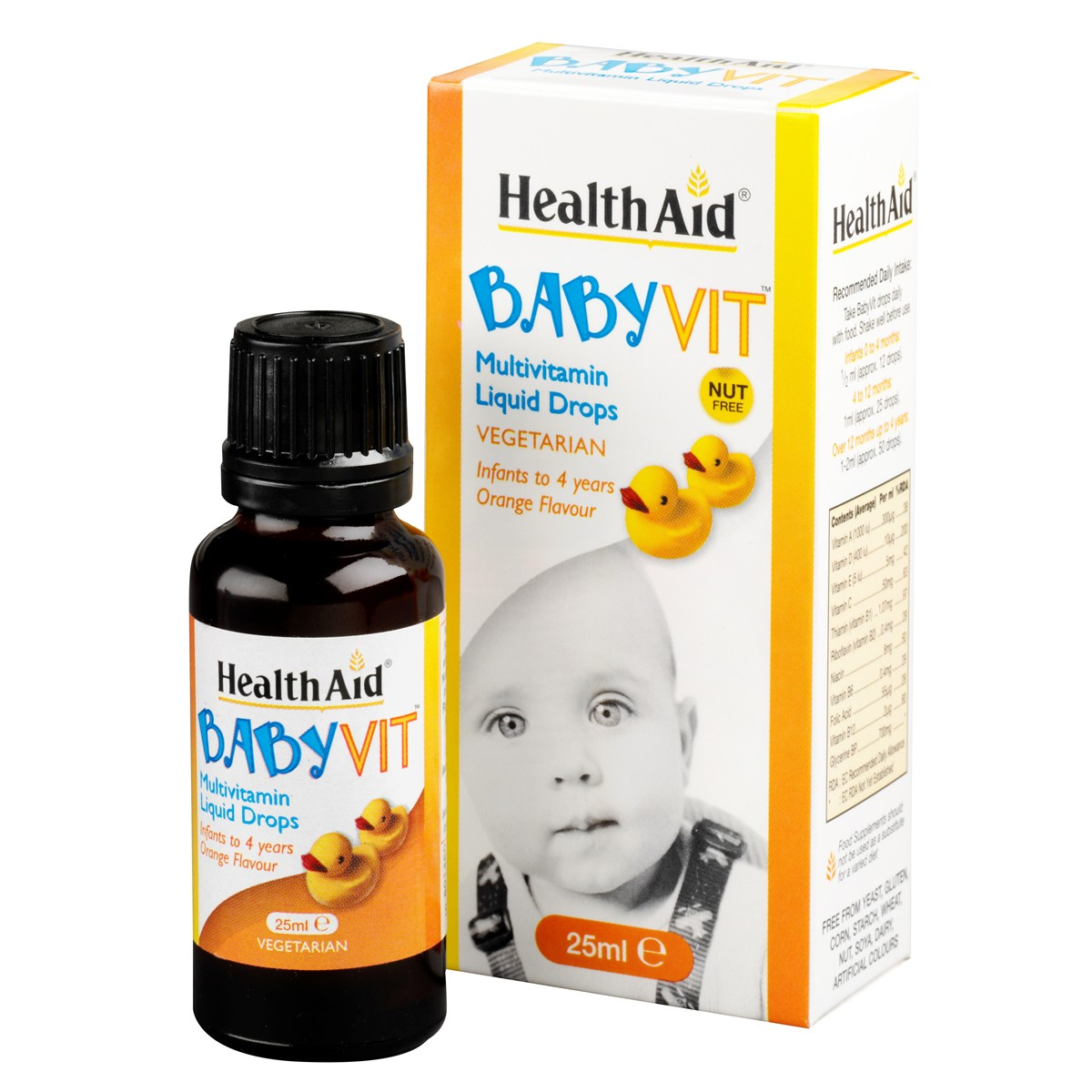 HealthAid Baby Vit - Orange Flavour (Ages 0 to 4 Years) Drops