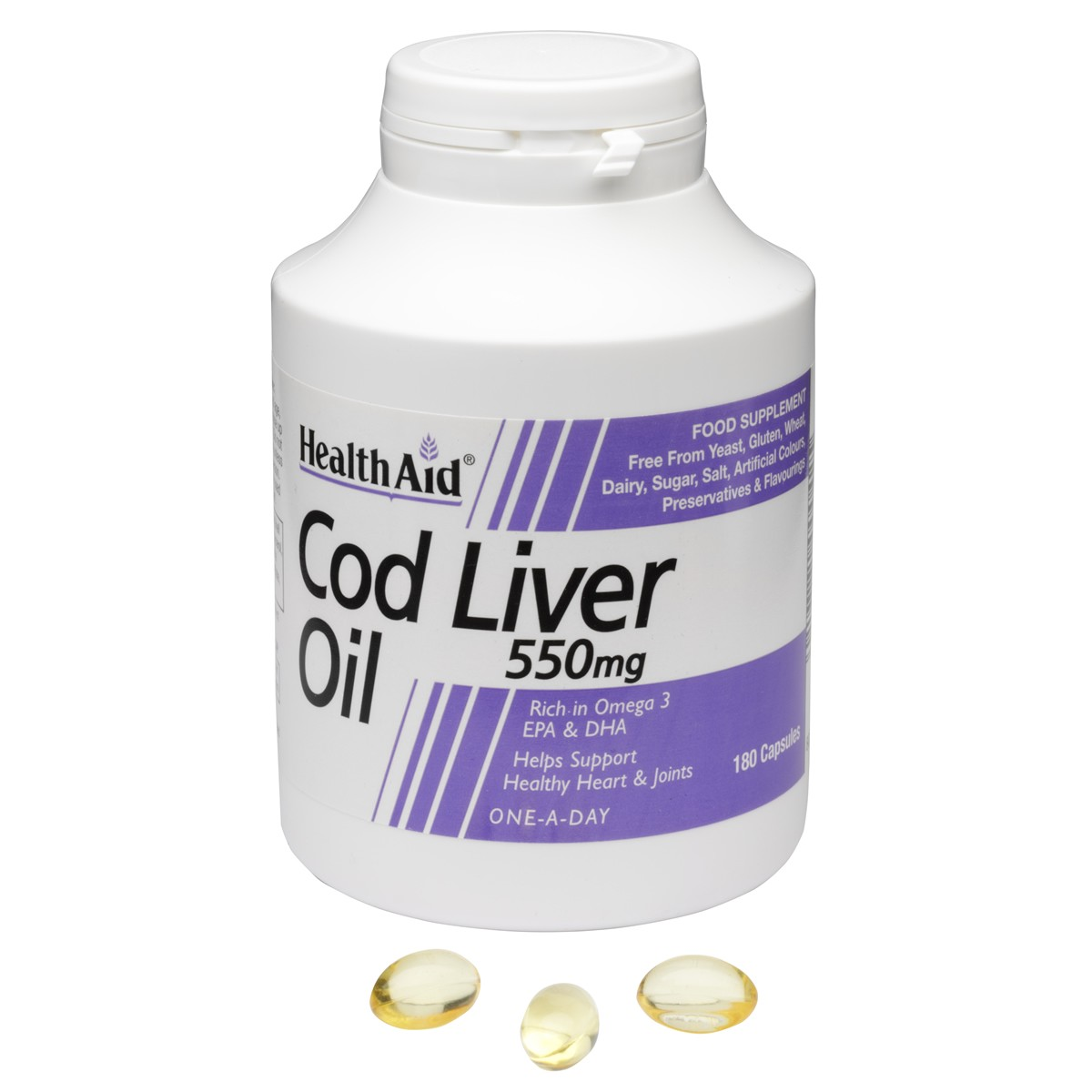 HealthAid Cod Liver Oil 550mg Capsules