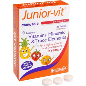 HealthAid Junior-vit - Chewable (Tutti-fruity Flavour) (Age 2 plus)