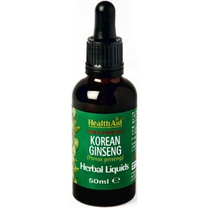 HealthAid Korean Ginseng (Panax ginseng) Liquid 50ml
