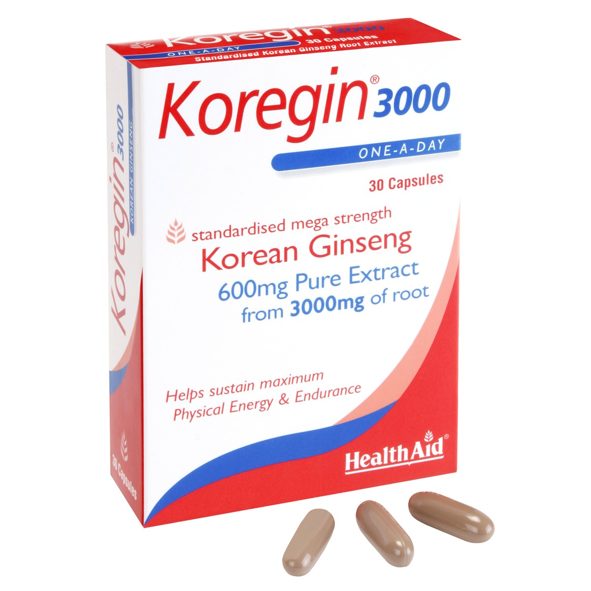 HealthAid Koregin 3000 (Korean Ginseng 3000mg) - Blister Pack