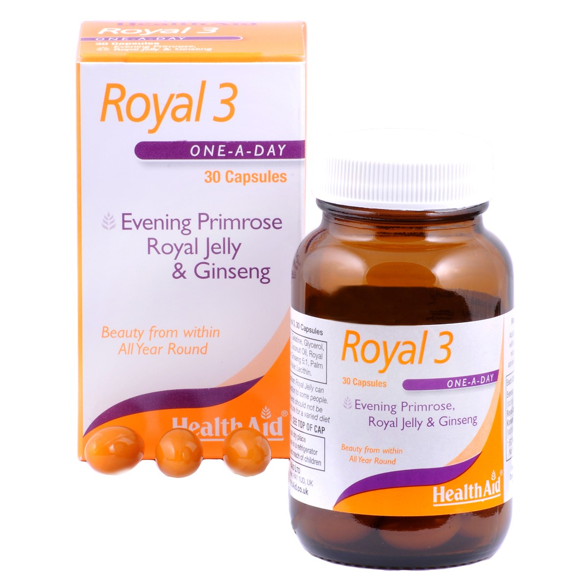 HealthAid Royal +3 (Royal Jelly + E.P.O. + Korean Ginseng)