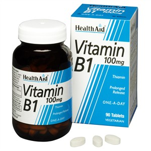 HealthAid Vitamin B1 (Thiamin) 100mg - Prolonged Release