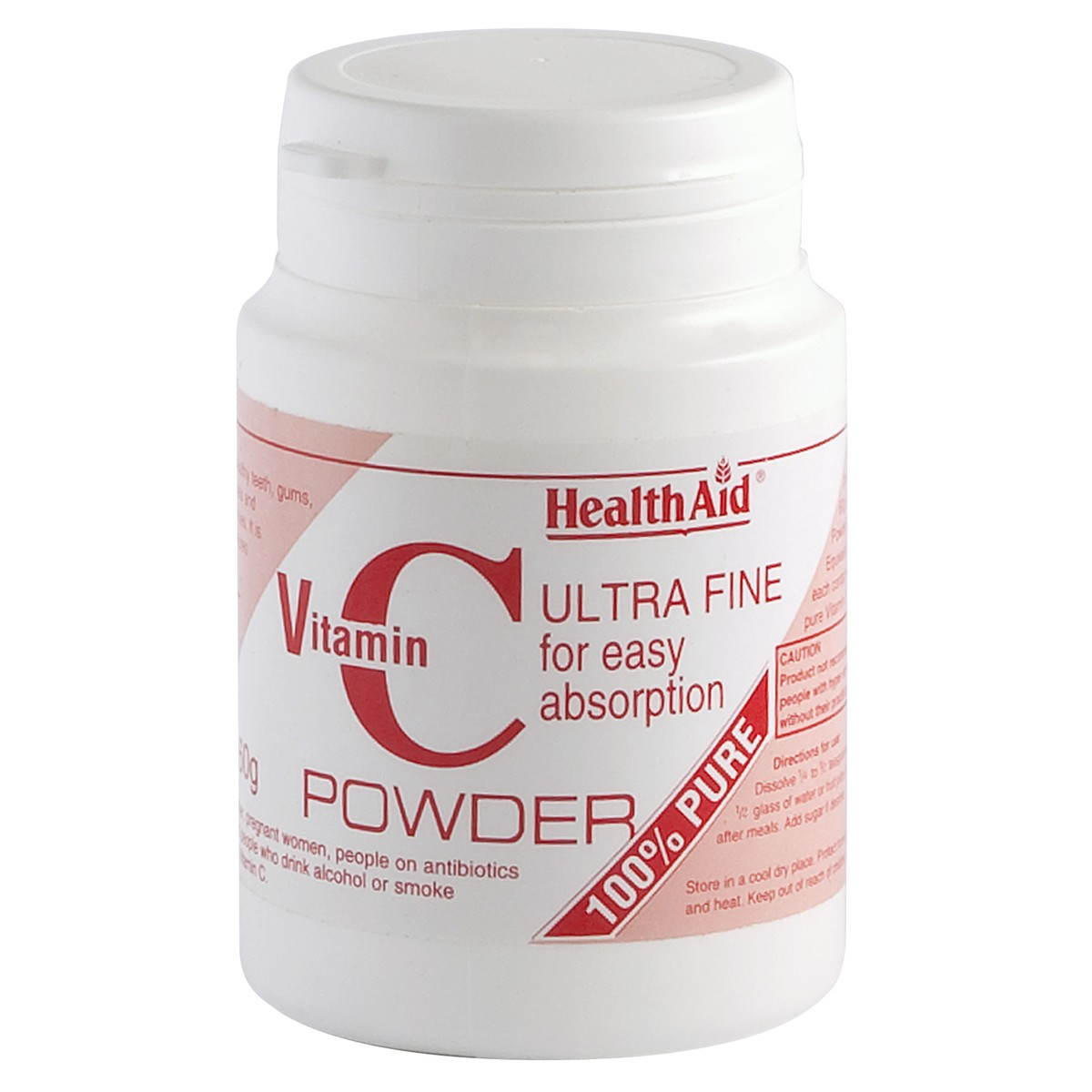 HealthAid Vitamin C 100% Pure Ultrafine Powder