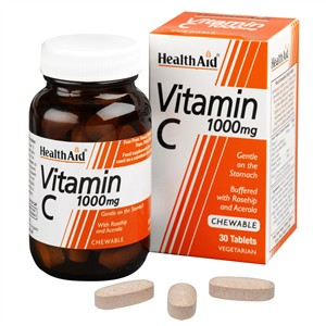 HealthAid Vitamin C 1000mg - Chewable (Orange Flavour)