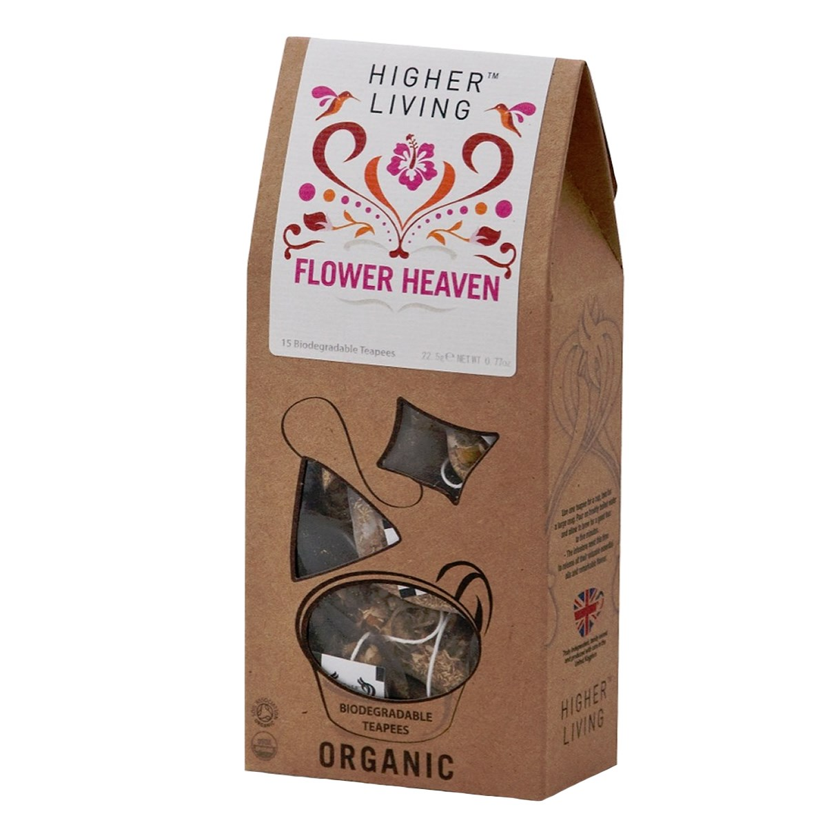 Higher Living Flower Heaven Pyramid Tea