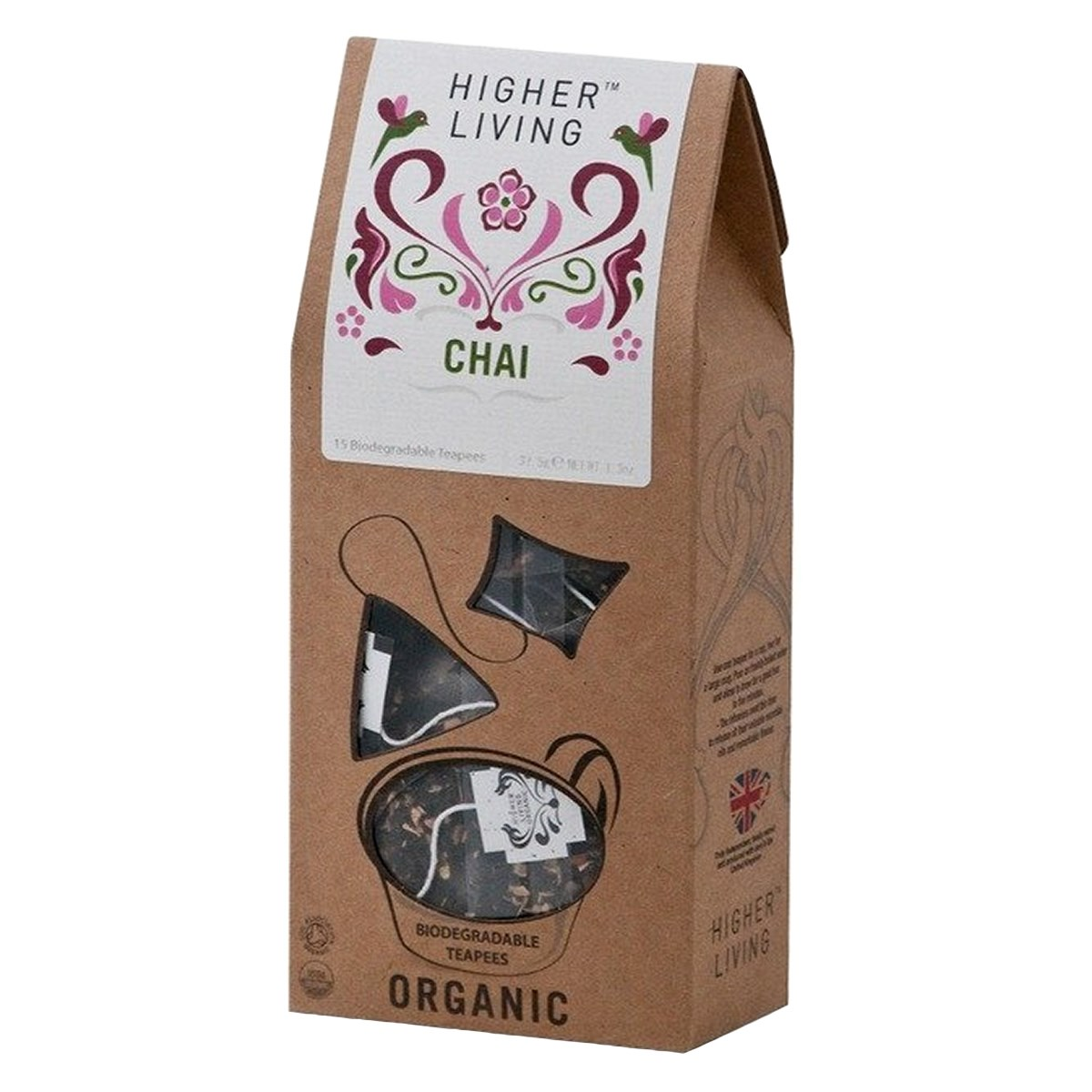 Higher Living Organic Chai Pyramid Tea