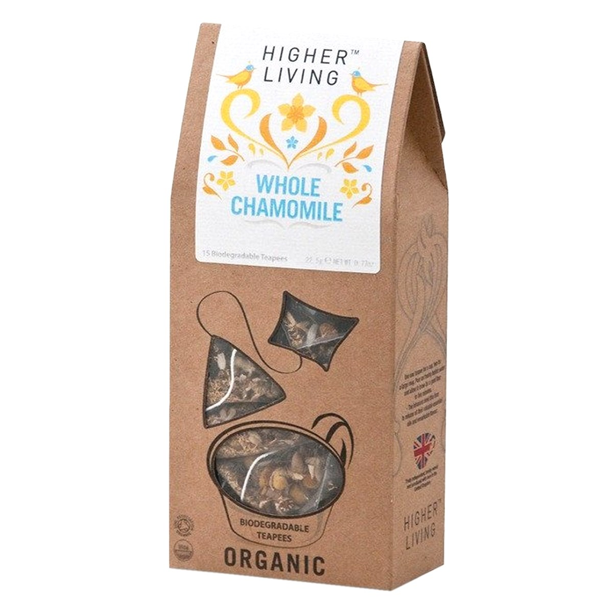 Higher Living Organic Whole Chamomile Tea