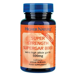 Higher Nature Garlic Super Strength Supergar 8000