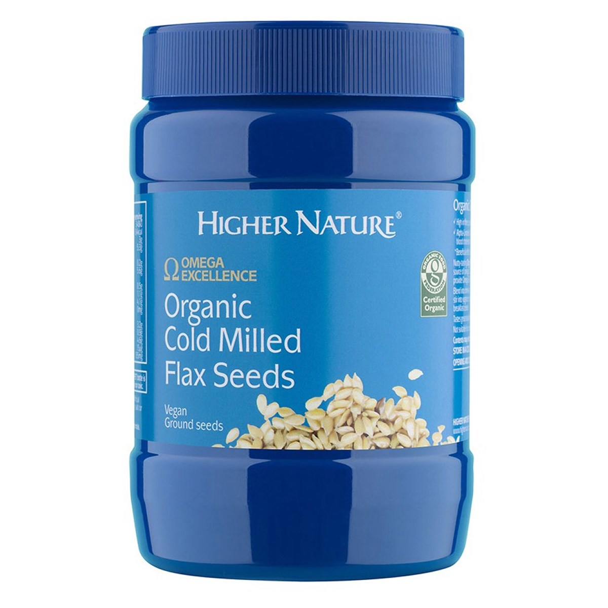 Higher Nature Organic Cold Milled Flax Seeds