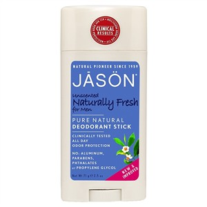 Jason Naturally Fresh Unscented Stick Men
