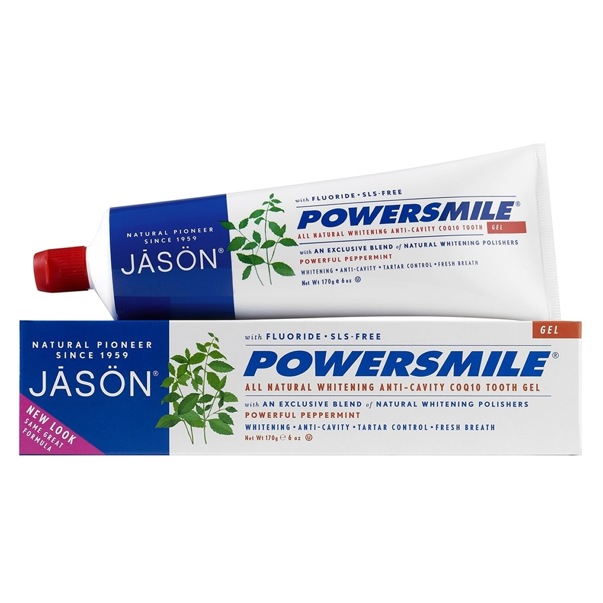 Jason Powersmile Anti-Cavity & Whitening Tooth Gel - Powerful Peppermint