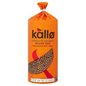 Kallo Organic Fairtrade Sesame Rice Cakes