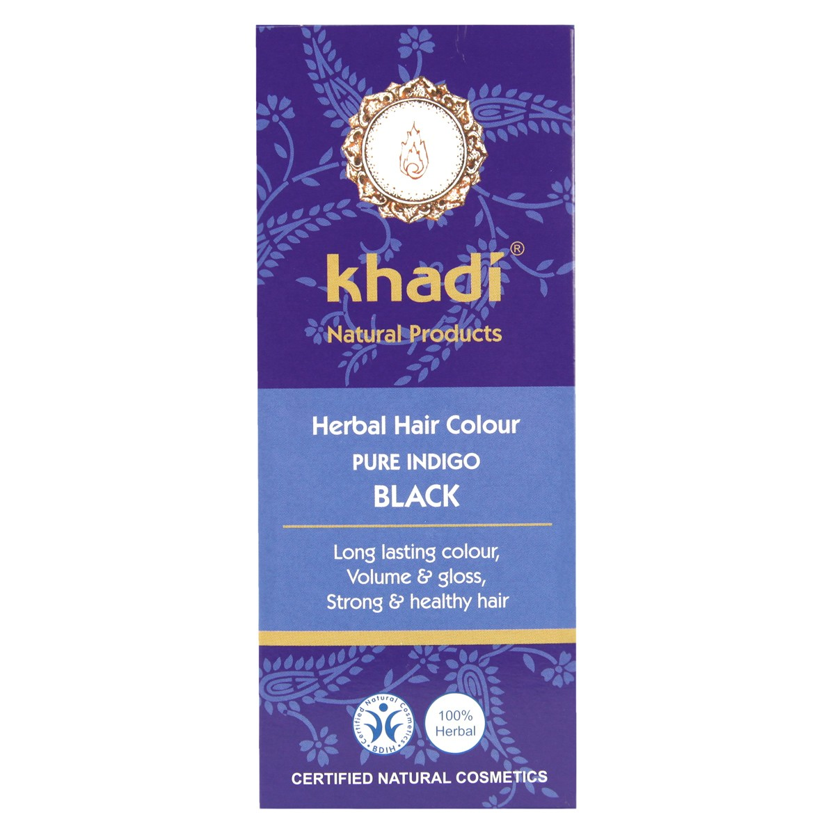 Khadi Herbal Hair Colour - Pure Indigo Black