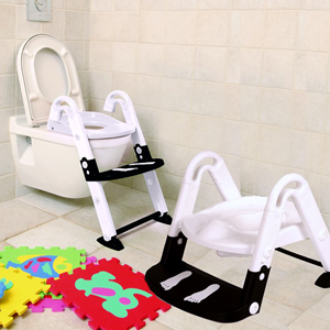 Kids Kit 3 in 1 Toilet Trainer Glow in the Dark - Black and White