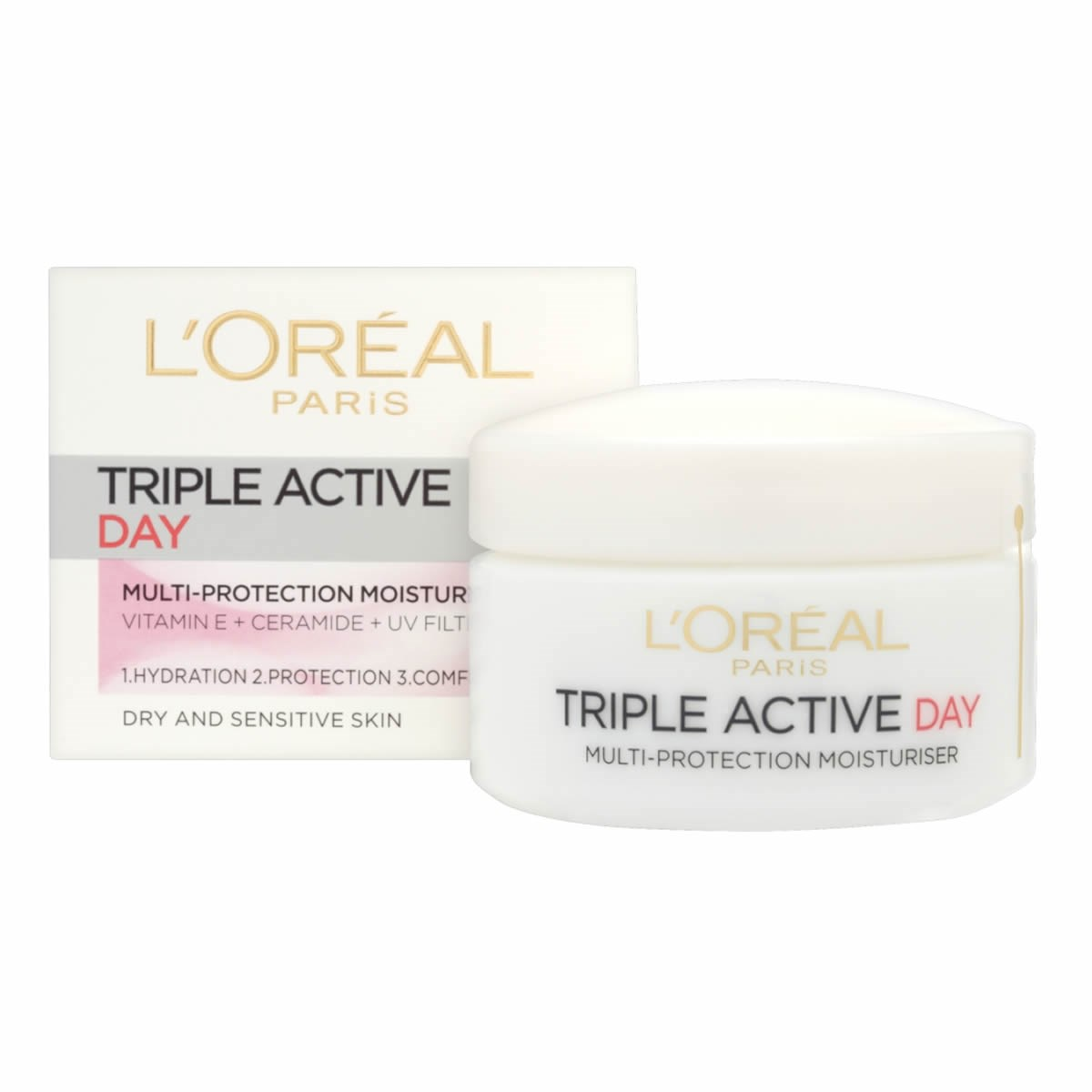 L'Oreal Paris Triple Active Day Moisturiser  - Dry & Sensitive Skin