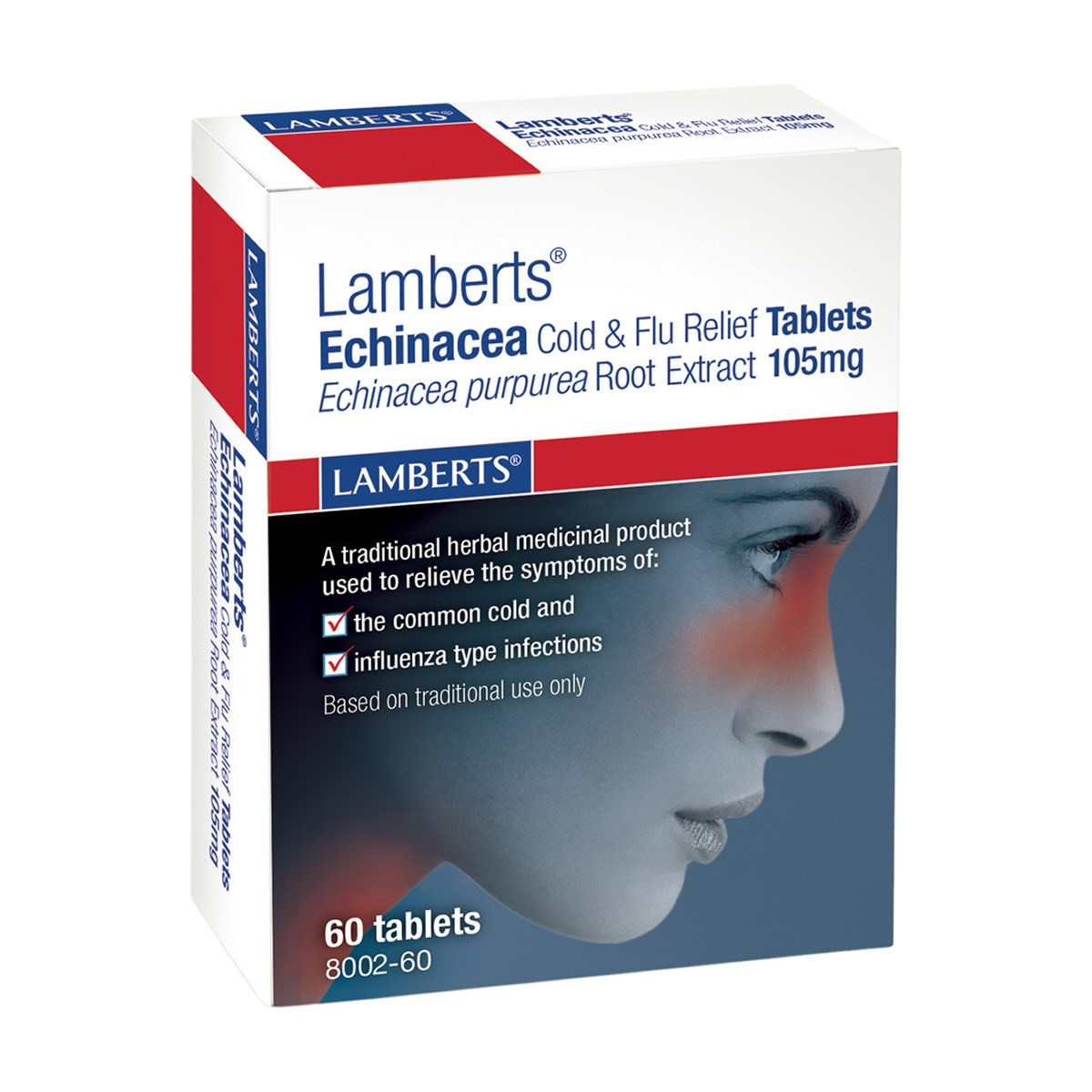 Lamberts Echinacea Cold & Flue Relief 105mg Tablets