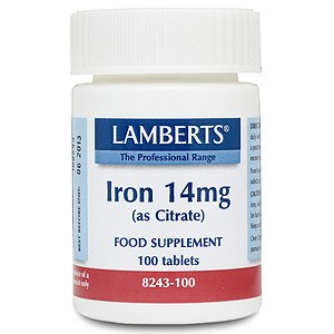Lamberts Iron 14mg (as Citrate)