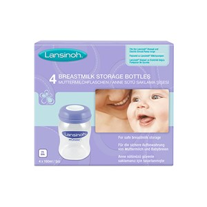 Lansinoh 4 Breastmilk Storage Bottles