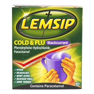 Lemsip Cold & Flu Blackcurrant
