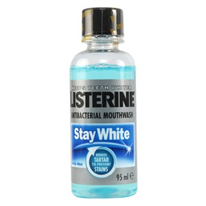 Listerine Stay White Anti-Bacterial Mouthwash - Arctic Mint (Travel Size) 95ml