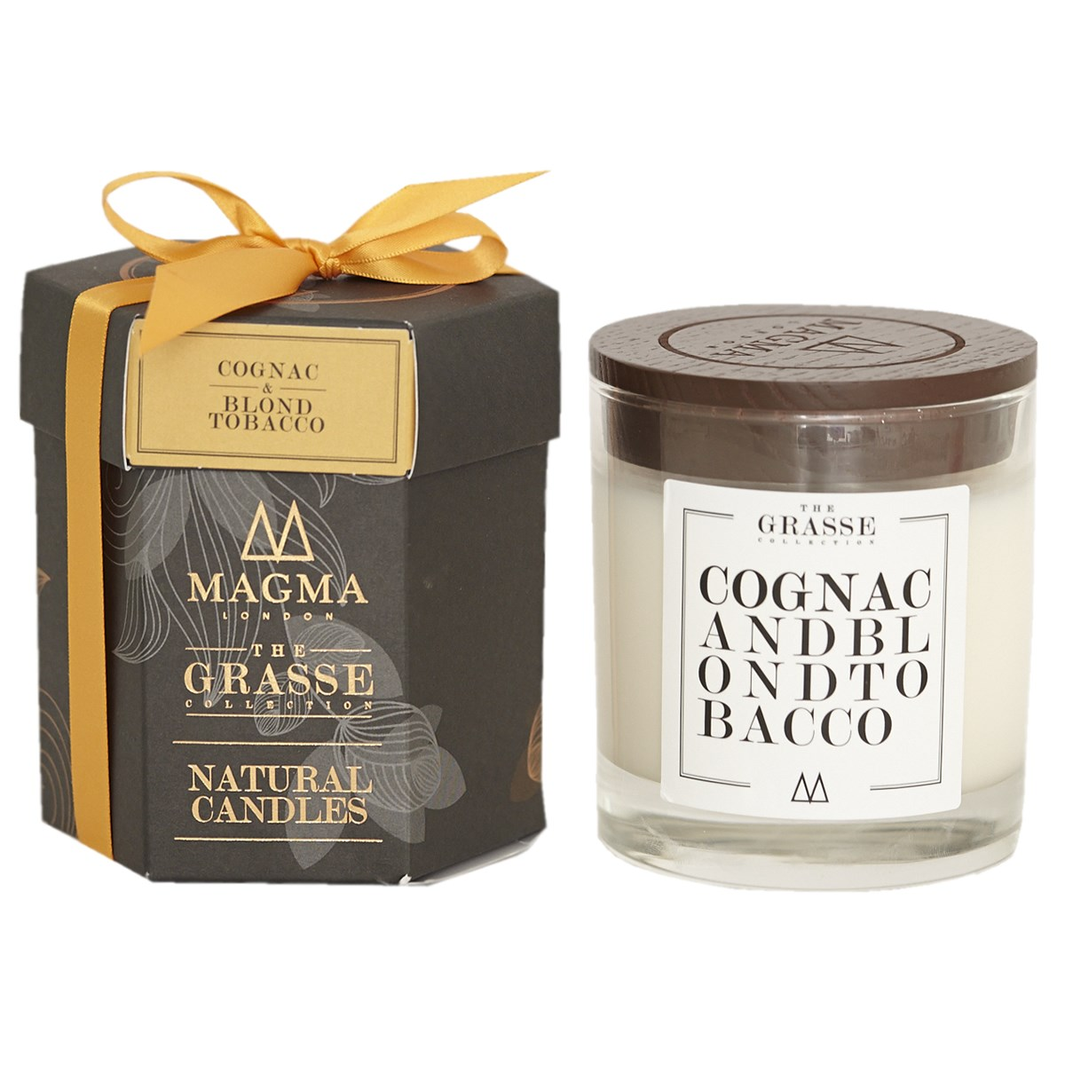 Magma London The Grasse Collection Natural Candle - Cognac & Blond Tobacco
