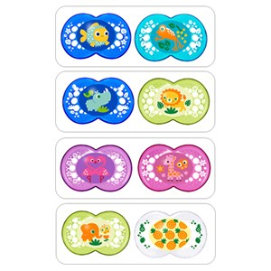MAM Crystal Soother 2 Pack (6+ months) - Assorted Colours