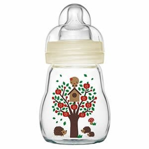 MAM Feel Good Glass Bottle 170ml (0 Months) Neutral Colours