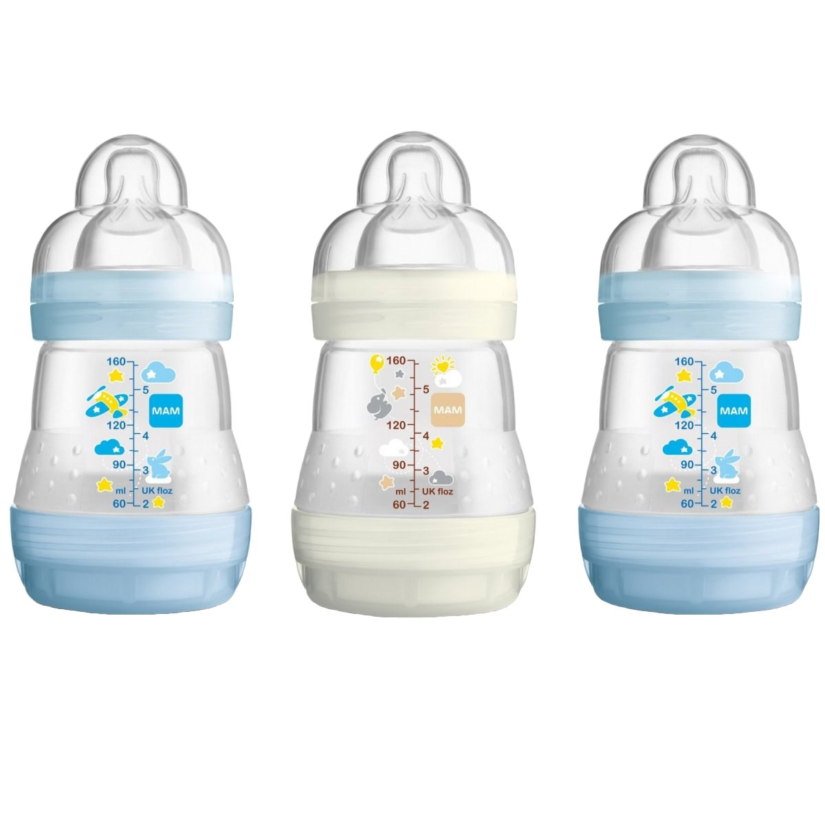 MAM Self Sterilising Anti Colic Bottles 160ml 3 Pack