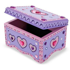 Melissa & Doug Decorate-Your-Own Jewellery Box
