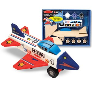 Melissa & Doug Decorate-Your-Own Wooden Jet Plane