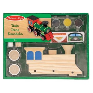 Melissa & Doug Decorate-Your-Own Wooden Train - Green