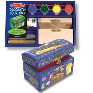 Melissa & Doug Decorate-Your-Own Wooden Treasure Chest