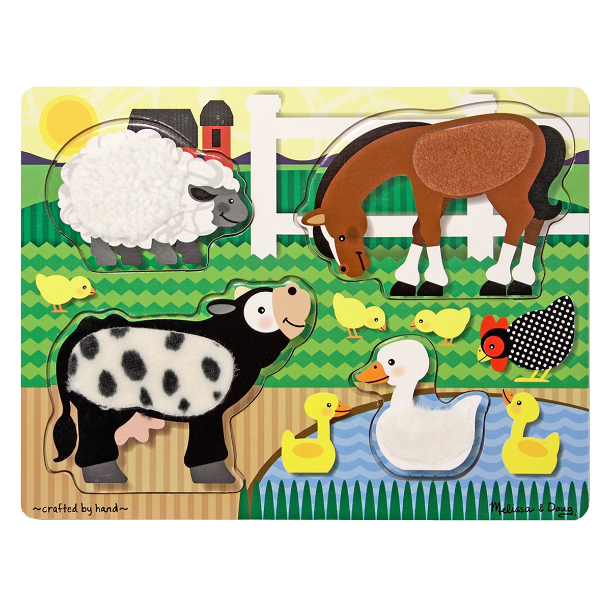 Melissa & Doug Farm Animals Touch and Feel Puzzle