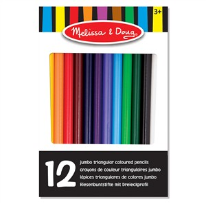 Melissa & Doug Jumbo Triangular Colored Pencils (Set of 12)