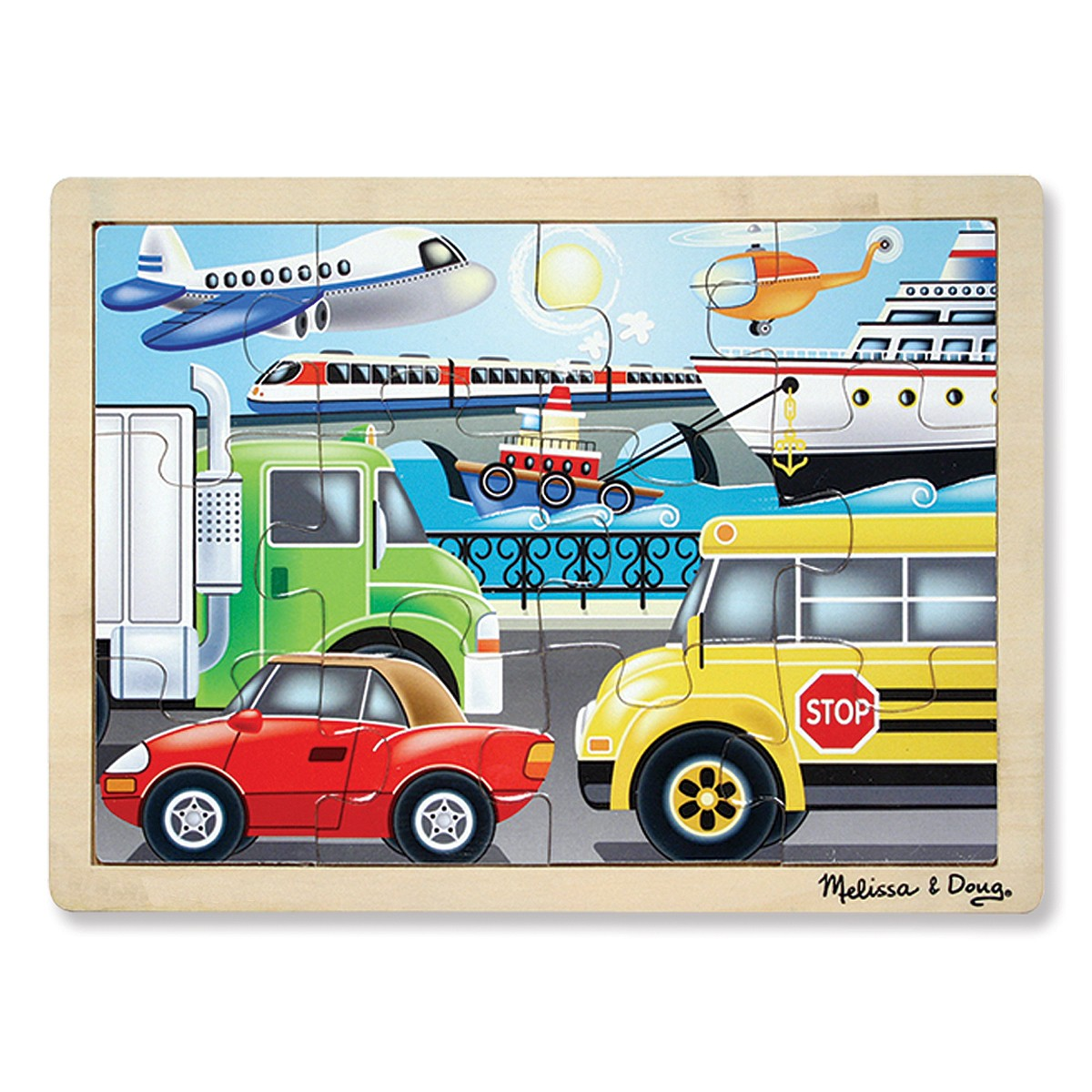 Melissa & Doug On the Go Wooden Jigsaw Puzzle