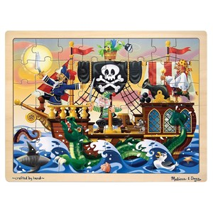Melissa & Doug Pirate Adventure Wooden Jigsaw Puzzle 48 Piece