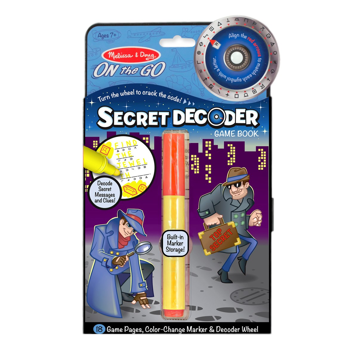 Melissa & Doug Secret Decoder Game Book - ON the GO Travel Activity Book